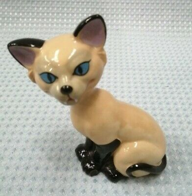 Wade Porcelain Sphynx Cat 5.5  Tall Pottery Ornament Animal #132 • 5.99£