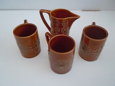 Portmeirion Pottery 'Totem' 3 Coffee Cup And A Small Jug. • 7.99£
