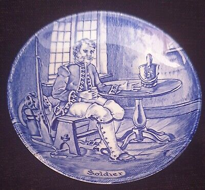 Old Chelsea Small Blue Plate From Collection Soldier England • 5£