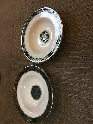 2 X ROYAL DOULTON CARLYLE 8  RIMMED SOUP BOWLS H5018 FIRST QUALITY & PERFECT • 21£