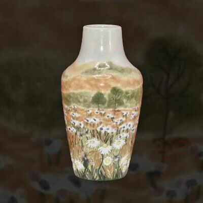 "Cobridge Stoneware Summer Meadow Collection Ox Eye 6"" Trial Vase Rachel Bishop • 165£"