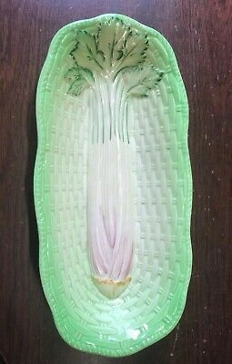 Vintage Beswick Ware Celery Dish No 220 Hand Painted Basket Weave 1932-1970  • 11£