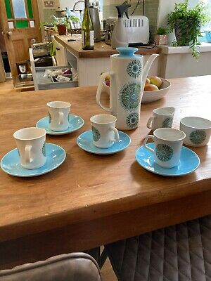 J&G Meakin Aztec Vintage Coffee Service Set For 4 - Good Condition • 20£