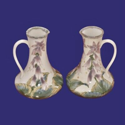 Cobridge Stoneware Pair Of Hosta 7 Inch Handled Jugs ~ Philip Gibson 1999 • 125£