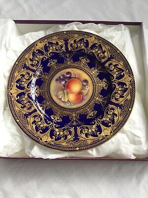ASPREY Royal Worcester Gold Plated Plate • 42£