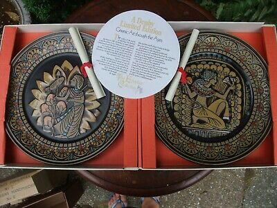 Denby Vintage 'Egyptian' Limited Edition Pair Of Plates, Original Packaging • 45£