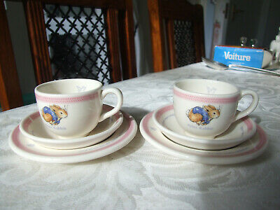 Wedgwood Miniature Peter Rabbit 6 Piece Nursery Tea Set, Boxed, Pristine • 24.99£