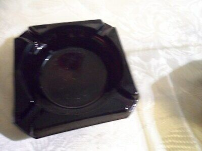 Vintage Black Amethyst Square 3.75  Ashtray  Free Shipping • 18.21£