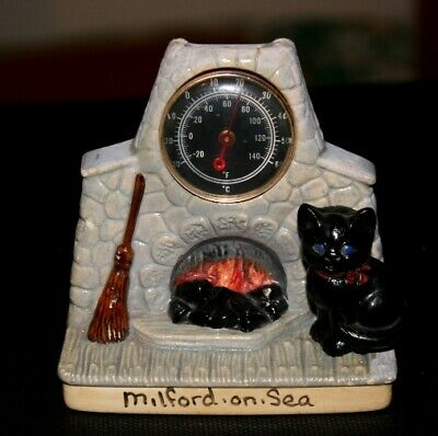 Vintage Manor Ware Design Milford-on-se Fireplace Thermometer Cat Collectable  • 12£
