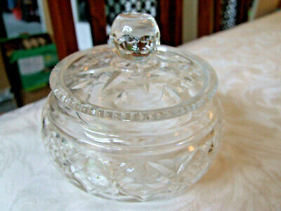 Vintage Cut Glass Lidded Tidy Jar • 5£