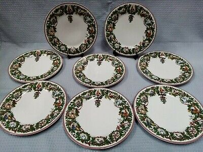 Macy's Royal Gallery All The Days Of Christmas 8 Dinner Plates Festive #504 • 10.55£
