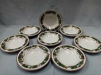 Macy's Royal Gallery All The Days Of Christmas 8 Medium Size Bowls Festive #504 • 10.55£