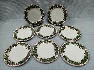 Macy's Royal Gallery All The Days Of Christmas 8 Medium Plates Festive #504 • 9.99£