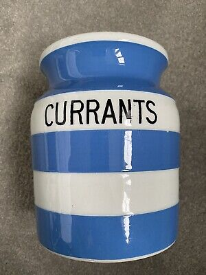 TG Green Cornishware Currants Canister  • 25£