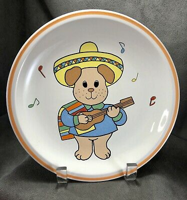Vintage Studio Nova Fiesta Sombrero Puppy Dog Childs Plate 8.5  Guitar Music  • 14.56£