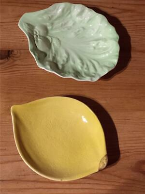 2 X Vintage Carlton Ware Dishes Lemon And Leaf Design • 11.99£