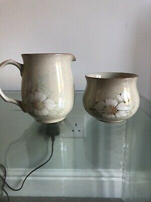 DENBY 'DAYBREAK' Milk Jug & Sugar Bowl • 0.99£
