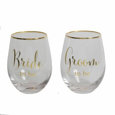 Bride To Be, Groom To Be Stemless Wine Glasses • 9.95£