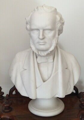 Victorian Large Parian Bust Earl Of Derby Prime Minister By Adams Circa 1867 • 325£