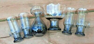 Small Collection Wedgwood Glass   Midnight Grey  Designed Frank Thrower • 14.99£