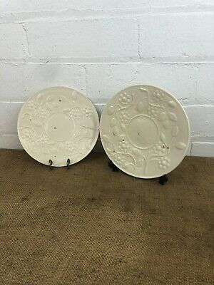 Two Antique Irish Porcelain Ulster Pottery Coalisland Belleek Plates • 115£