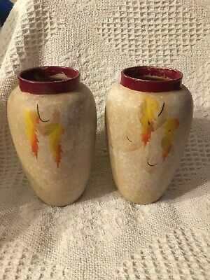 Pair Of Pottery Vases • 2£