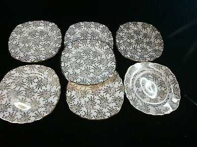 Royal Vale Gilded 7x Side / Sandwich Plates  • 12.50£