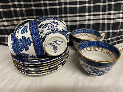 Booths  Real Old Willow A8025 Six Cups & Saucers. • 16.50£