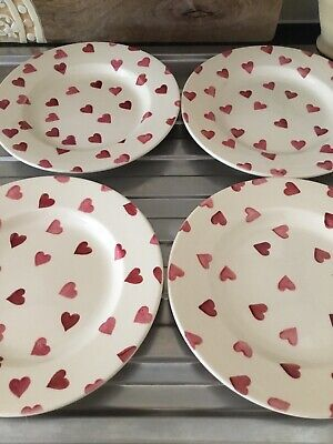 Four Emma Bridgewater Hearts Side Plates • 25£