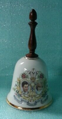 Vintage Commemorative Bell - Royal Marriage Charles & Diana • 1.90£