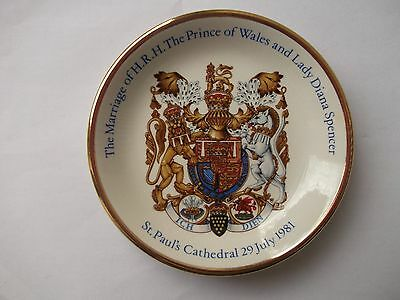 Boxed Vintage Wood & Sons Royal Marriage Charles & Diana 1981 Plate • 1.90£