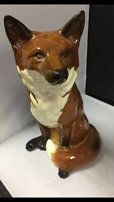 """Beswick Fireside Fox #2348 By Graham Tongue  - H. 12.5"""" - Excellent Condition • 235£"""