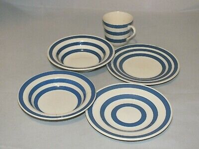 Vintage Devon Ironstone Blue And White Cup Cereal Bowls And Side Plates Lot  • 15.99£