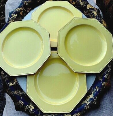 Old French Creamware Pottery Plates Set Of Four Wall Display • 91.43£