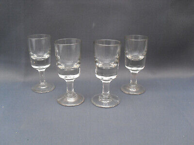 4 X Vintage Toasting Illusion Deceptive Glasses Liquer Glasses Dram Penny Lick • 12£