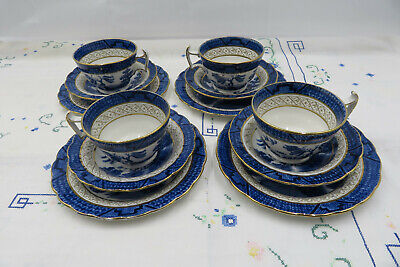 Booths Real Old Willow 9072 Silicon China Tea Trio • 25£