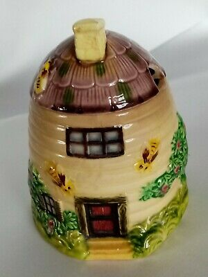 Vintage Marutomoware Honey Pot Marked Ⓚ Hand Painted Foreign Japan 1920's • 5.99£