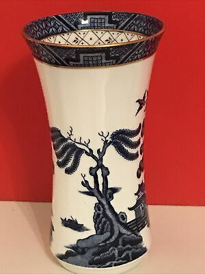 Royal Doulton Booths Real Old Willow Vase Tc1126 • 9.99£
