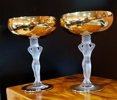 Bayel Bacchante Gold Nude Champagne Glasses (Set Of 2) • 127.35£