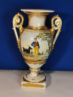Antique Early 19th  Sevres Style French Old Paris Hand Painted Vase • 44.99£