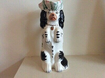 Vintage Staffordshire Mantle Piece Wally Dog Jug With Handle And Hat. • 46.95£