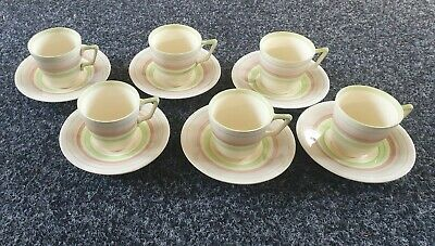 Set Of 6 Crown Ducal Cups & Saucers • 5£