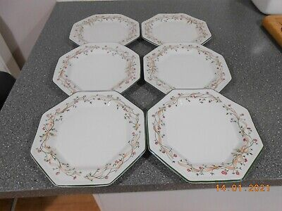 6 X Eternal Beau 10 Inch Dinner Plates Excellent Condition • 15£