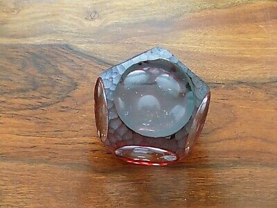 Vintage Ruby Cut Webb Corbett Paper Weight Good Condition  • 11.99£