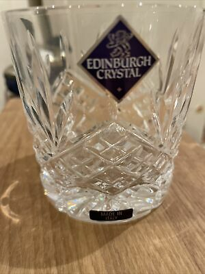 Crystal Cut Whisky Glass X2 Edinburgh Vintage Tumbler NEW W. Label Made In Italy • 5.99£