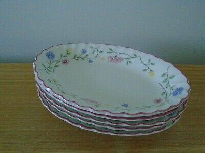Set Of 5 Rare Johnson Brothers Summer Chintz Small (19cm) Shallow Oval Bowls • 15£