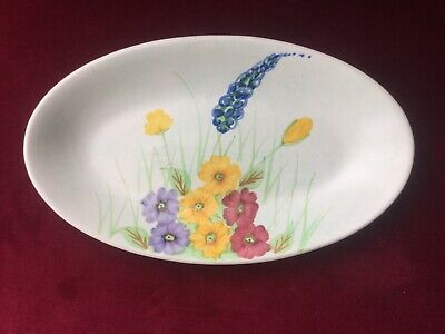 Radford Pottery England Hand Painted Oval Dish. • 4.99£