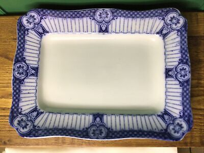 Ford & Sons Ltd Blue & White Serving Platter Rectangle 13 By 10 Inches Perfect  • 20£