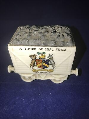 Willow Art Crested China Coal Rail Truck Bradford • 6.60£