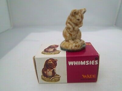 WADE MOUSE SEATED & BOX No 39 - SET 8 1977   ENGLISH WHIMSIES (REFS 244/78) • 2.49£
